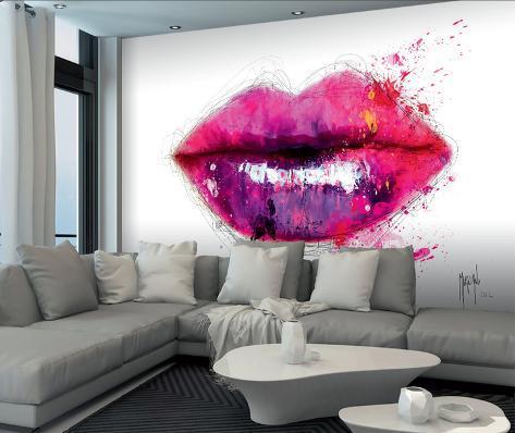 Patrice Murciano Lips Wall Mural 壁紙ミューラル