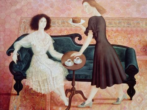 Coffee Morning, 1993 Giclée-vedos