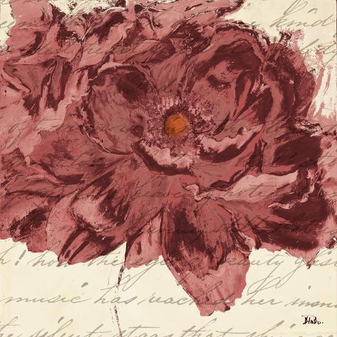 Marsala Peonies Square II Stampa artistica