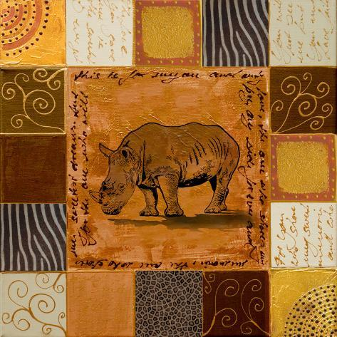 African Collage I Art Print