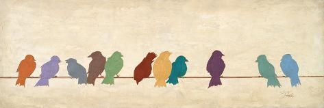 Birds Meeting Mount Art Set