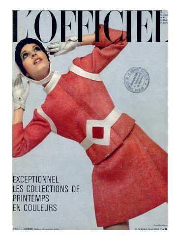 L'Officiel, March 1969 - Pierre Cardin, Tailleur en Tweed de Leleu Taidevedos