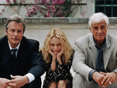 Jean-Paul Belmondo, Alain Delon, Vanessa Paradis: Une chance sur deux, 1998 Photographic Print