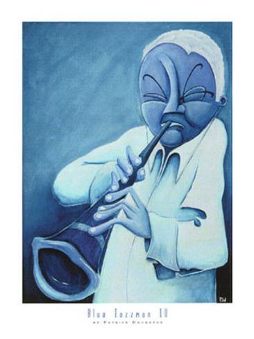 Blue Jazzman IV Art Print