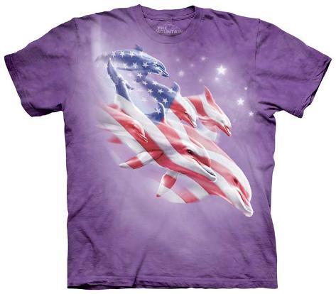 Patriotic Dolphins T-Shirt