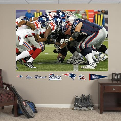 Patriots-Giants Line Mural Wall Decal