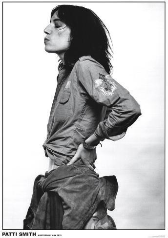 Patti Smith, Amsterdam 1976 Poster