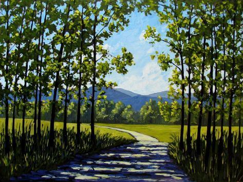 Summer Path Impressão artística