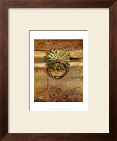 Handles on Gold I Framed Art Print
