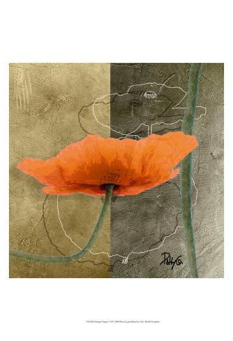 Orange Poppies VI Art Print