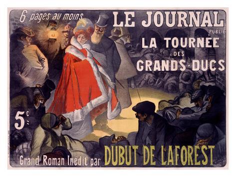 Le Journal Dubut De Laforest Giclee Print