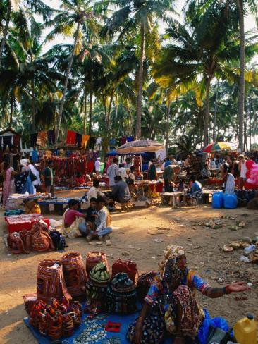 Women Selling Handcrafts at Market, Mapusa, India Photographic Print