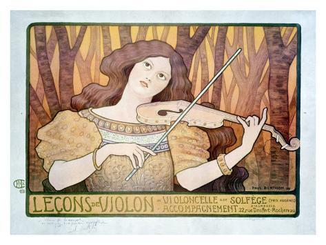 Lecons de Violin Giclee Print