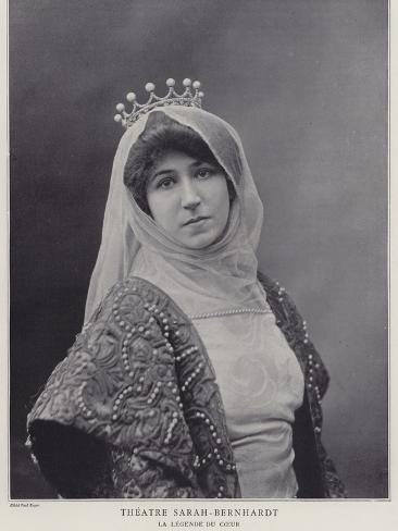 Blanche Dufrene as Alice De Castelnau in La Legende Du Coeur Photographic Print