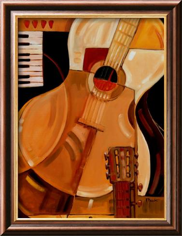Abstract Guitar Lamina Framed Art Print