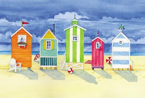 Brighton Huts Art Print