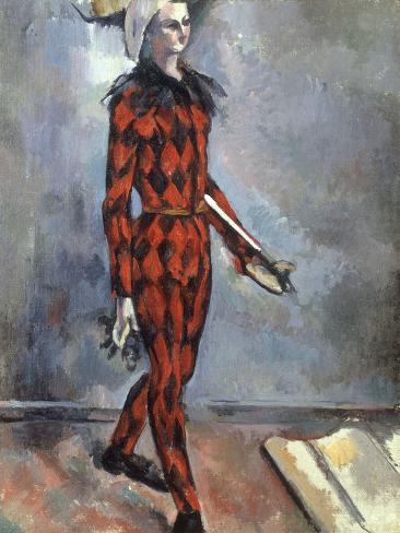 Arlequin, early 1890s Lámina giclée