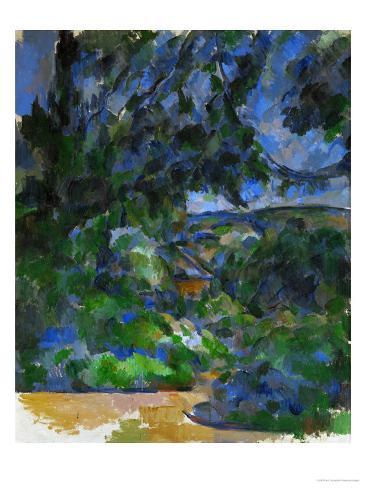 Blue Landscape, 1904-1906 Framed Canvas Print