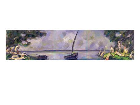 Boat and Bathers Giclee Print