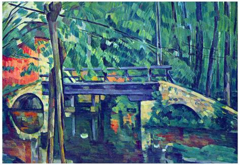 Paul Cezanne Bridge in the Forest Art Print Poster Poster