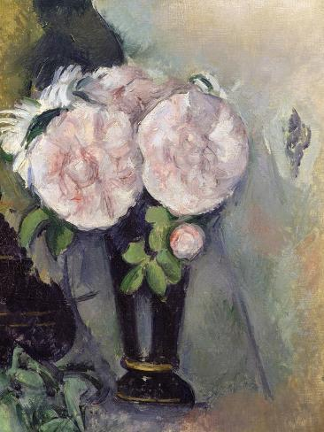 Flowers in a Blue Vase, C.1886 Lámina giclée