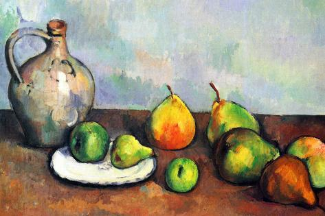 paul cezanne still life jar and fruit prints by paul cézanne at