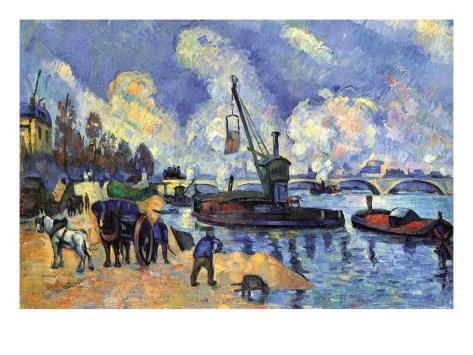 Seine At Bercy Art Print