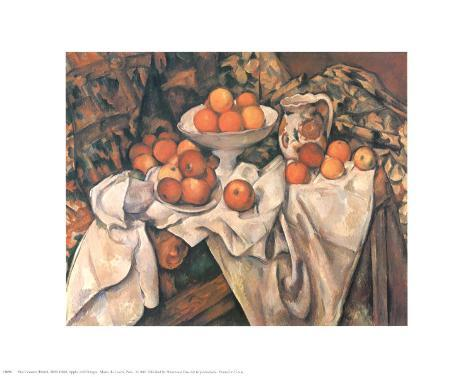 Still Life with Apples and Oranges, c.1895-1900 Art Print