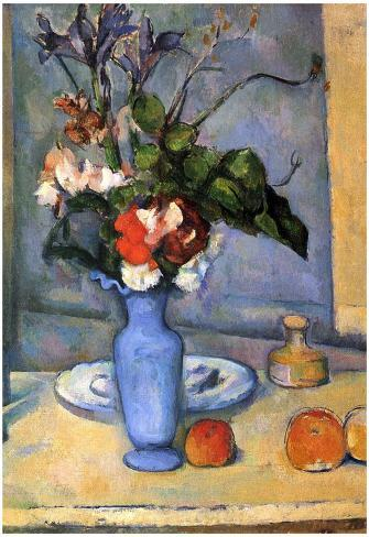 Paul Cezanne Still Life With Blue Vase Art Poster Print Poster