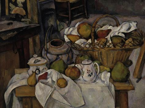 Still-Life with Fruit Basket, c.1888 Giclee Print