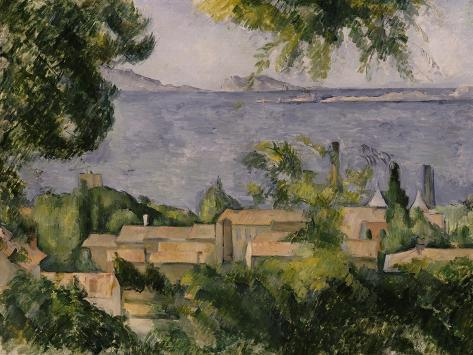 The Rooftops of l'Estaque, 1883-85 Giclee Print