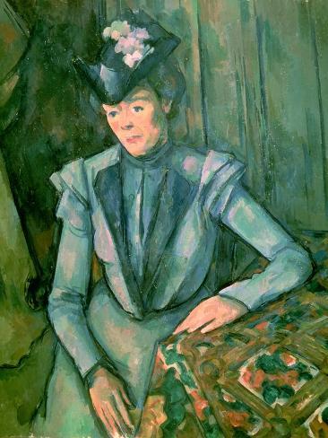 Woman in Blue (Madame Cezanne) 1900-02 Giclee Print
