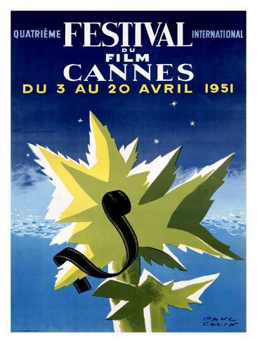 Cannes Film Festival, 1951 Giclee Print