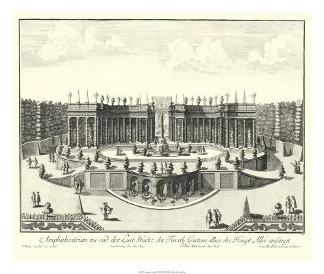 Fountains of Versailles III Giclee Print