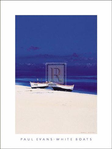 White Boats Art Print
