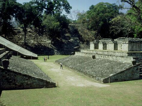 Mayan Ruins at Copan, Great Plaza, Honduras Photographic Print