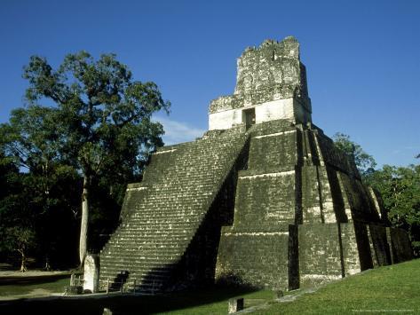 Mayan Ruins at Tikal, El Peten, Guatemala Photographic Print