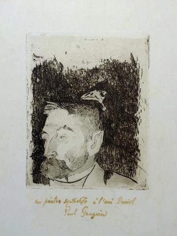 Au Poete Synthetiste, Portrait of Stephame Mallarme Giclee Print