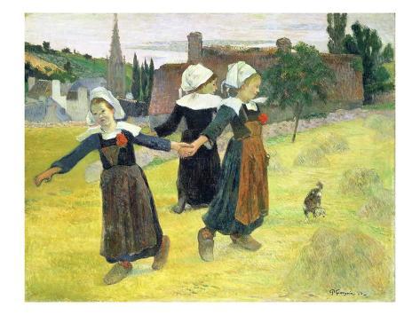 Breton Girls Dancing, Pont-Aven Giclee Print