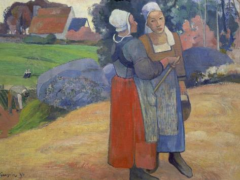 Breton Peasant Women Having a Conversation, 1894 Giclee Print