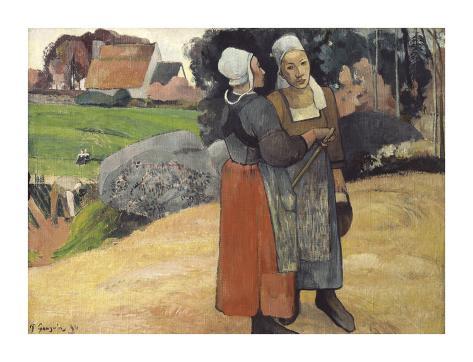 Breton Peasants Premium Giclee Print