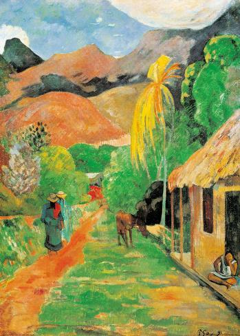 Chemin a Papeete Art Print
