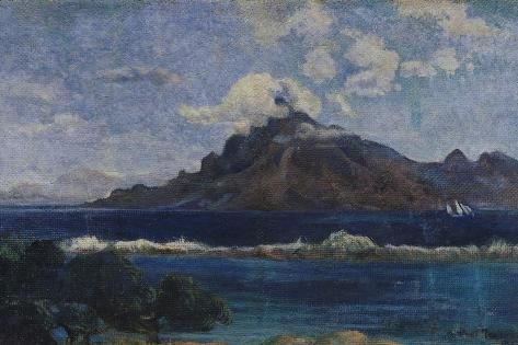 Coastal Martinique Landscape, 1887 Lámina giclée