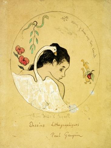 Design for a Plate - Leda and the Swan, 1889 Lámina giclée