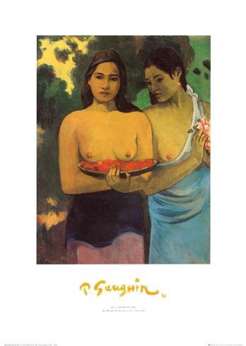 Deux Thaitiennes Art Print
