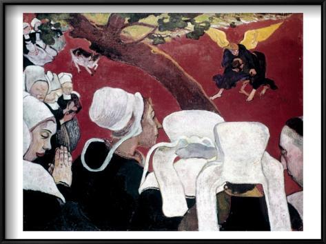 Gauguin: Vision, 1888 Framed Art Print