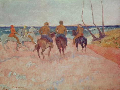 Horseman on the Beach (Hiva Hoa) 1902 Giclee Print