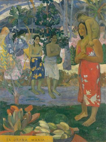 Ia Orana Maria (Hail Mary), 1891 Lámina giclée