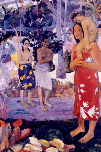 La Orana Maria Stretched Canvas Print