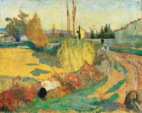 Paysage a Arles, 1888 Reproducción de lámina sobre lienzo